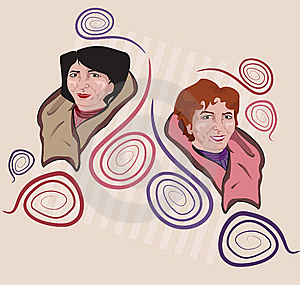 Middle-aged Sisters Royalty Free Stock Image - Image: 7710016
