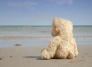 Alone And Depressed At The Beach Stock Photos - Image: 7710483