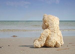 Alleen En Gedeprimeerd Bij Het Strand Stock Foto's - Afbeelding: 7710483
