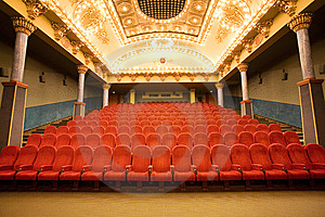 Empty cinema auditorium Free Stock Photography