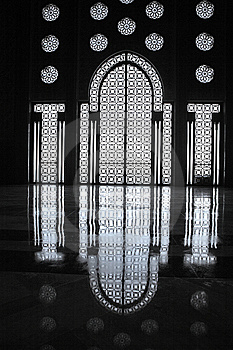 Interiors Of The Mosque Of Hassan II Stock Image - Image: 7712631