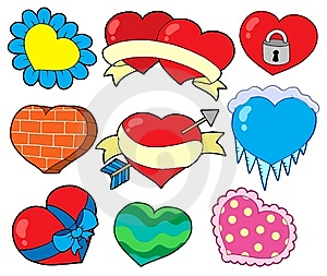 Valentine Hearts Collection 2 Stock Photo - Image: 7712720