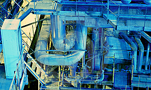 Pipes, Tubes, Machinery And Steam Turbine Royalty Free Stock Images - Image: 7713719