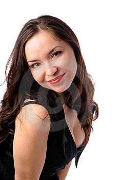 Young Woman In Black Stock Photo - Image: 7713940