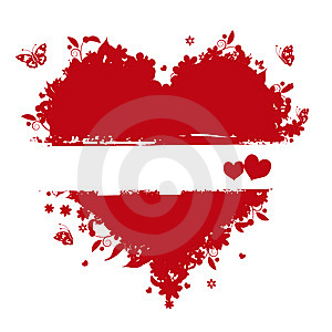 Floral Heart Shape For Your Design Royalty Free Stock Photo - Image: 7714045