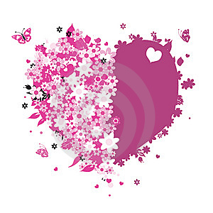 Floral Heart Shape For Your Design Royalty Free Stock Photography - Image: 7714057