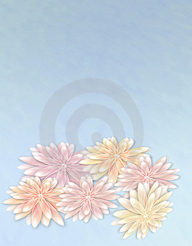 Flowers On Blue Stock Image - Image: 7714921