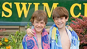 Brothers At The Pool Stock Photos - Image: 7715063