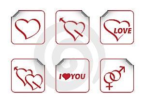 Valentines Sticks Royalty Free Stock Photos - Image: 7716128