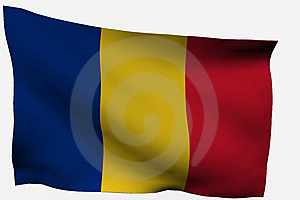 Romania 3d Flag Stock Image - Image: 7716141
