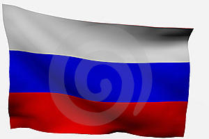Russia 3d Flag Stock Photo - Image: 7716150