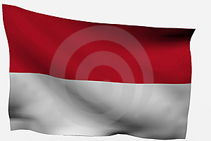 Indonesia  3D Flag Royalty Free Stock Image - Image: 7716176