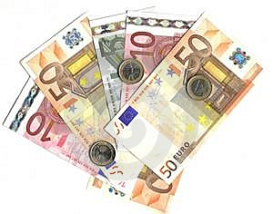 Euro Coins And Banknotes Royalty Free Stock Image - Image: 7717856