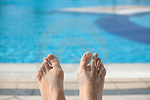 Pool Feet Royalty Free Stock Photos - Image: 7718378