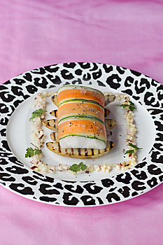 Brill Wrapped In Carrot Royalty Free Stock Images - Image: 7719959