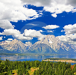 The Landscape Of Grand Teton National Park Royalty Free Stock Photography - Image: 7720747