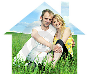 Man And Woman In Green Field Stock Photos - Image: 7721643