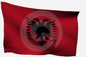 Albania 3D Flag Royalty Free Stock Photography - Image: 7722507