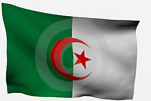 Algeria 3D Flag Royalty Free Stock Image - Image: 7722546