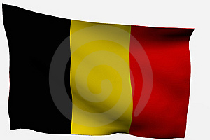 Bandiera Del Belgio 3d Fotografie Stock - Immagine: 7722563