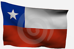 Chile 3D Flag Stock Image - Image: 7722611