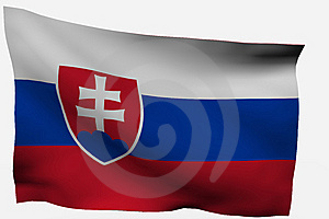 Slovakia 3d Flag Stock Images - Image: 7722664