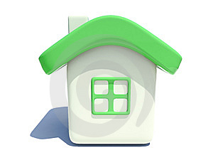 Simple House With Green Roof Stock Photography - Image: 7724272