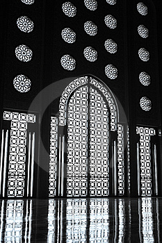 Interiors Of The Mosque Of Hassan II Stock Photos - Image: 7725503
