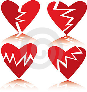 Broken Hearts Stock Photography - Image: 7726452
