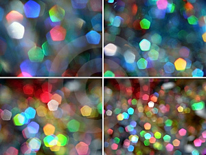 Pentagon Rainbow Light Sparkles Royalty Free Stock Images - Image: 7727129