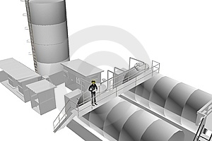 Heavy Industry Site With Engineer Supervising Royalty Free Stock Photo - Image: 7728995