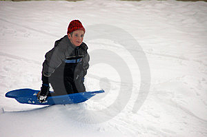 Boy Sledding Stock Photography - Image: 7729712
