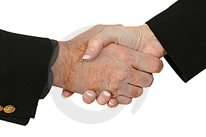 Male Female Handshake Royalty Free Stock Images