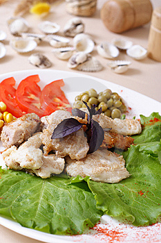 Roasted Fish With Vegetable Stock Photos - Image: 7730103