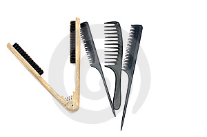 Set Of Combs Royalty Free Stock Photography - Image: 7730497