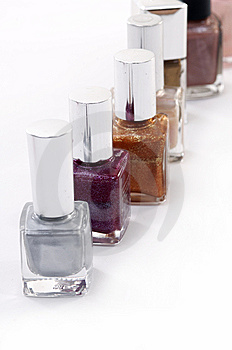 Colored Nail Polish Stock Image - Image: 7730751