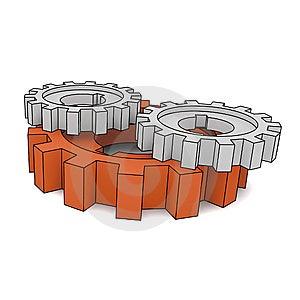 Isolated Cogwheels Royalty Free Stock Images - Image: 7733049