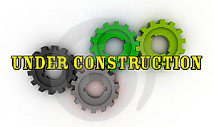 Isolated Cogwheels - Under Construction Royalty Free Stock Image - Image: 7733226