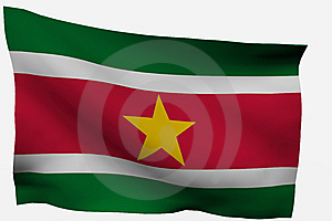 Surinam 3d Flag Royalty Free Stock Photos - Image: 7733328