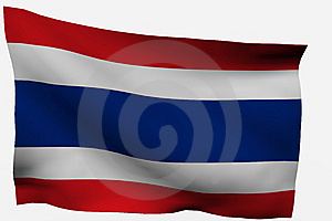 Thailand 3d Flag Stock Image - Image: 7733361
