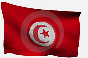 Tunicia 3d Flag Royalty Free Stock Images - Image: 7733369