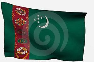 Turkmenistan 3d Flag Stock Photography - Image: 7733382