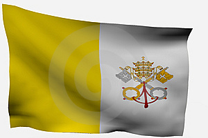 Vatican City 3d Flag Stock Photos - Image: 7733403