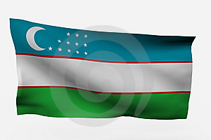 Uzbekistan 3d Flag Stock Photography - Image: 7733792