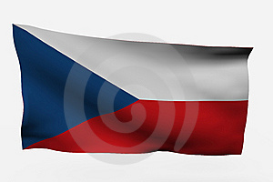 Czech Republic 3d Flag Royalty Free Stock Photography - Image: 7733817