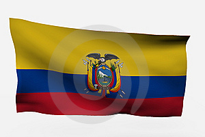 Ecuador 3d Flag Stock Photography - Image: 7733822