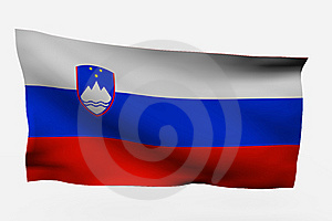 Eslovenia 3d Flag Stock Photos - Image: 7733823
