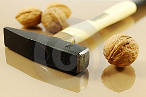 Walnuts And Hammer Royalty Free Stock Photo - Image: 7733835