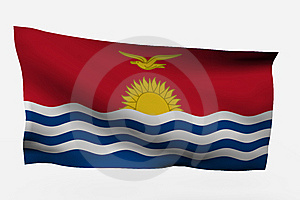Kiribati 3d Flags Royalty Free Stock Photo - Image: 7733865