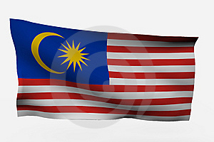 Malaysia 3d Flag Stock Photo - Image: 7733940